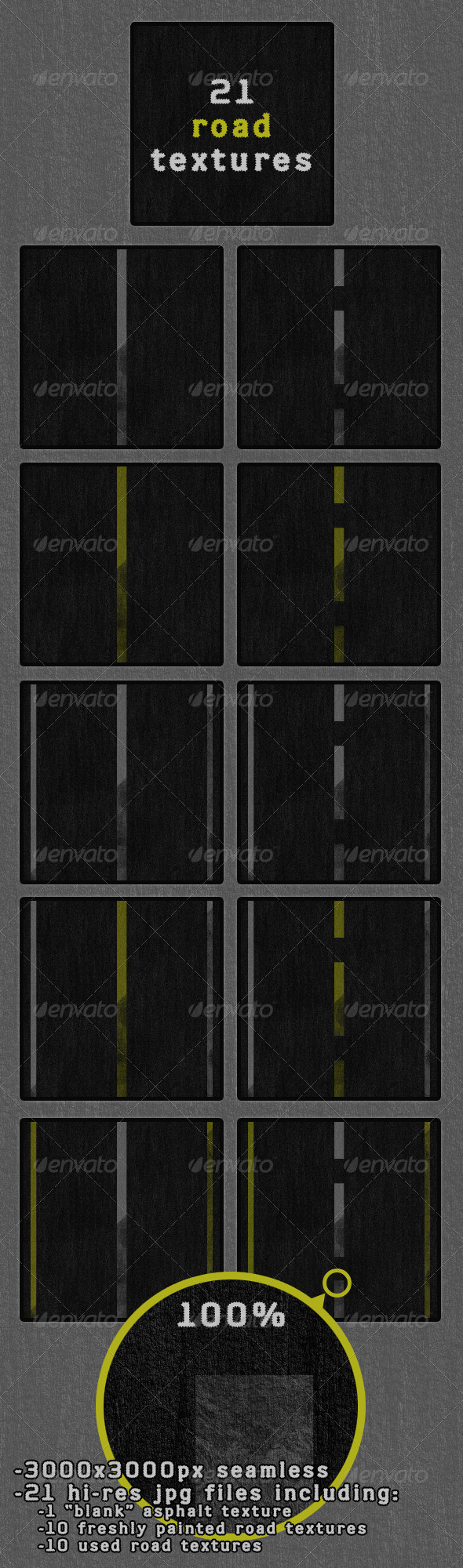 GraphicRiver 21 Road textures 6824912
