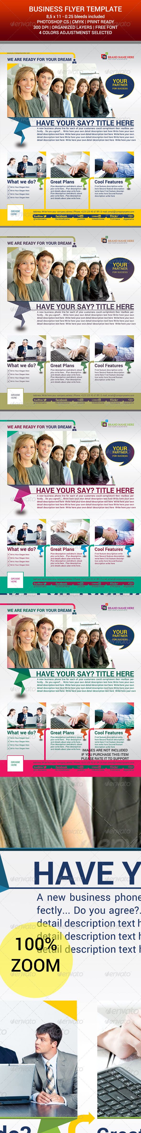 GraphicRiver Corporate Flyer Template v.02 6506734