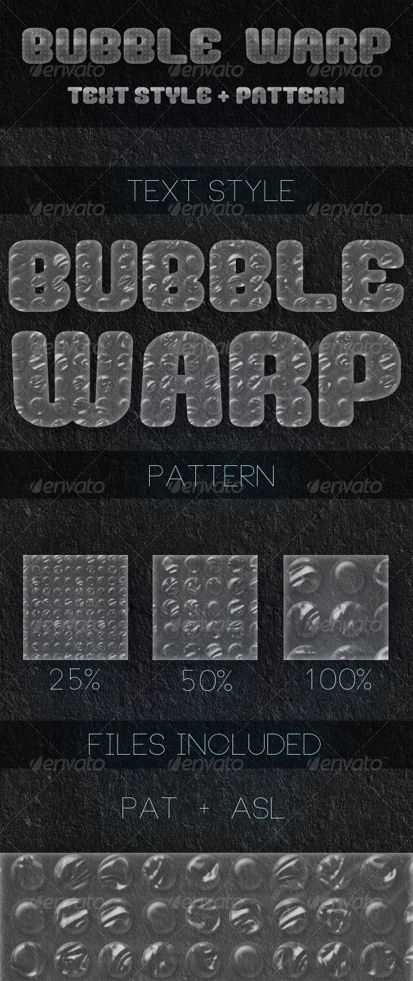 GraphicRiver Bubble Warp Text Style & Pattern 6825401