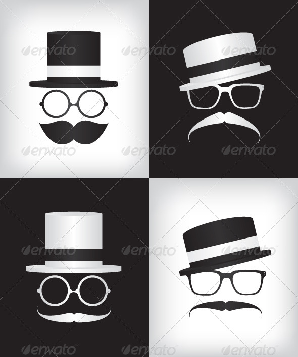 GraphicRiver Hipster and Gentleman Illustration 6825755