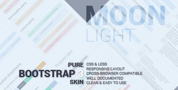 CodeCanyon Pro Moon Light Bootstrap Skin 6825777