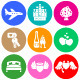 126 Valentine's Day Colorful Icons - GraphicRiver Item for Sale