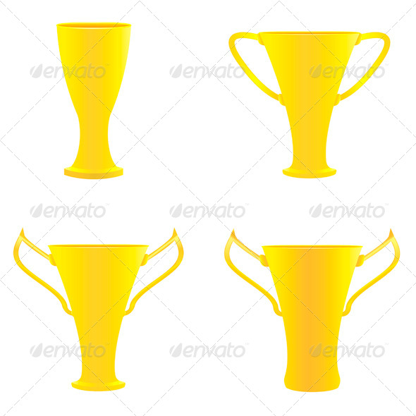 GraphicRiver Champion Golden Trophies 6825996