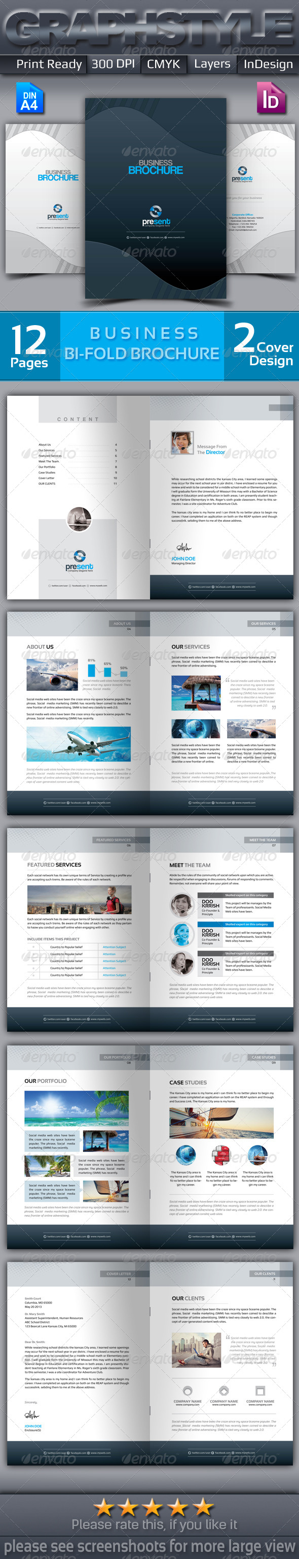 GraphicRiver Present Bi-fold corporate business brochure 6826035