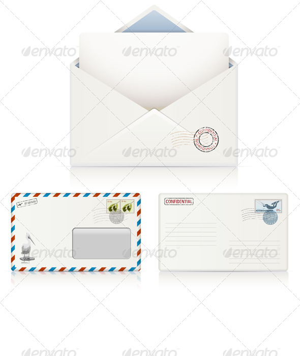 GraphicRiver Postal Envelopes 6826050