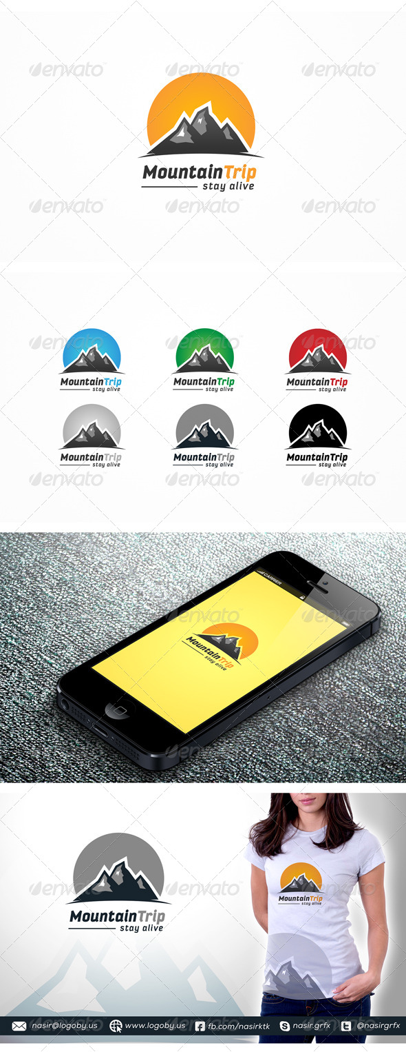 Mountain Peaks - Nature Logo Templates
