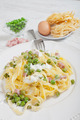 noodles with cream and ham - PhotoDune Item for Sale