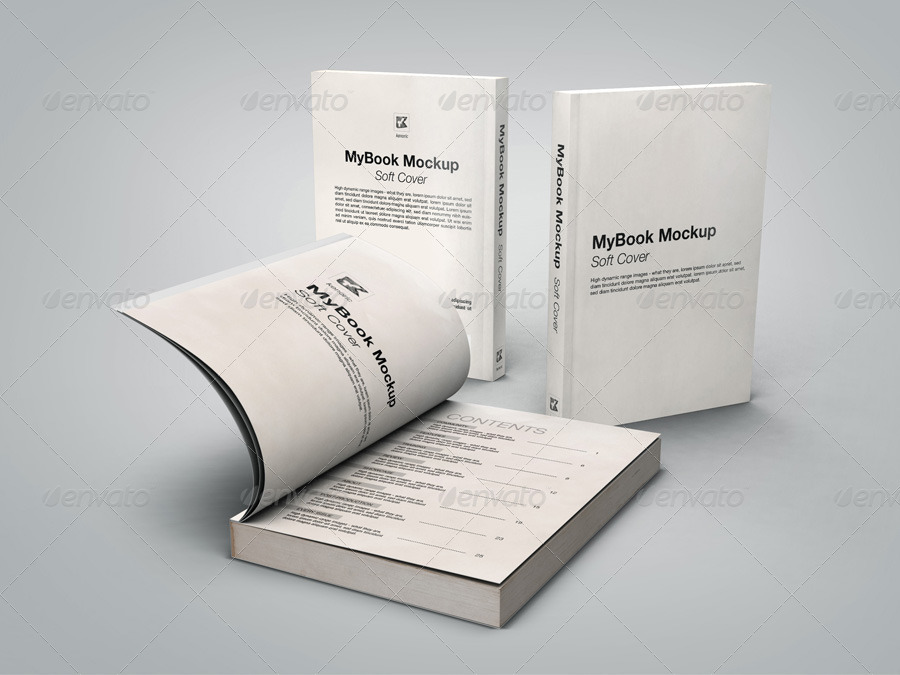 Soft Cover Book Mockup Template : Soft cover mock up by kenoric graphicriver