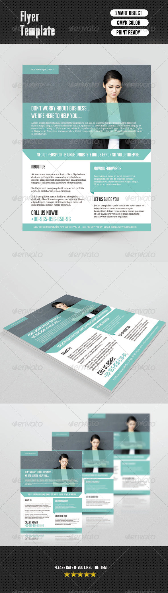 GraphicRiver Corporate Flyer Template 6826318