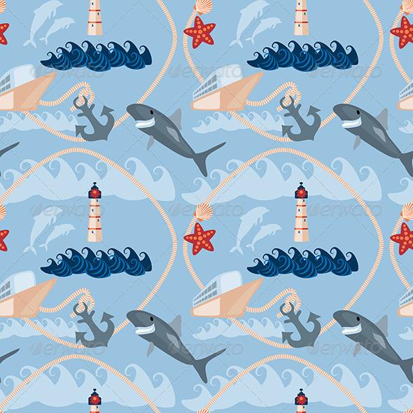 GraphicRiver Sea Seamless Pattern 6826331