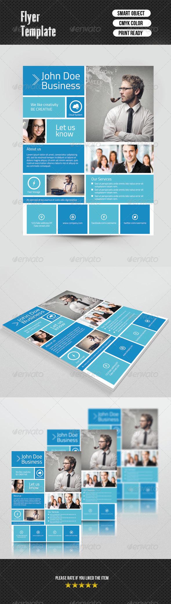 GraphicRiver Metro Style Flyer 6826335