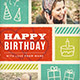 Retro Birthday Greeting Card  - GraphicRiver Item for Sale