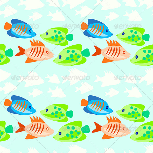 GraphicRiver Colored Fish Seamless Pattern 6826411