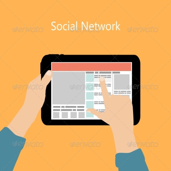 GraphicRiver Using Social Network Concept 6826420