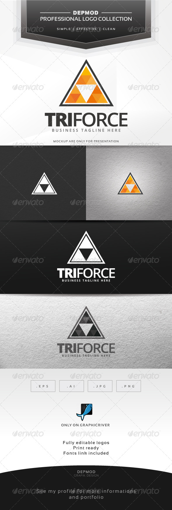 GraphicRiver Tri Force Logo 6826433
