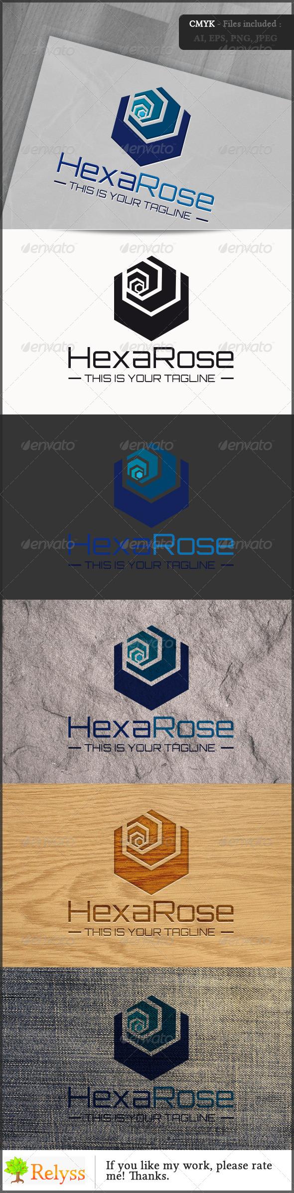 GraphicRiver HexaRose logo 6826469