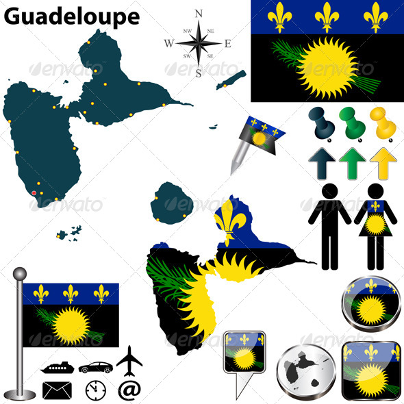 GraphicRiver Map of Guadeloupe 6826483