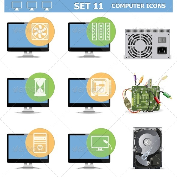 GraphicRiver Computer Icons Set 11 6826515