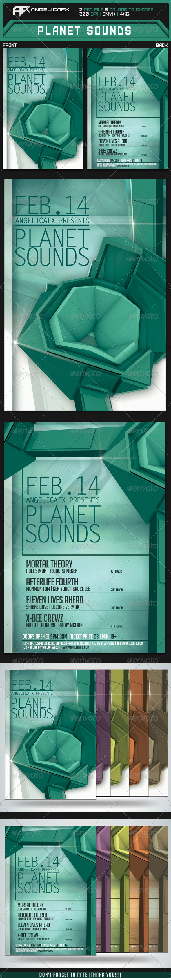 GraphicRiver Planet Sounds Flyer Template 6826516