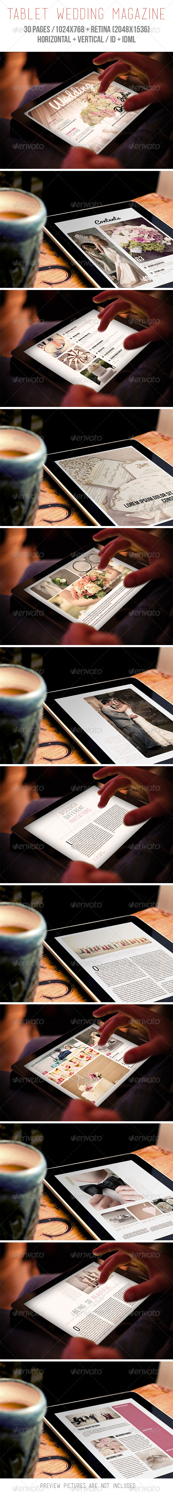 GraphicRiver Tablet Wedding Magazine 6826528