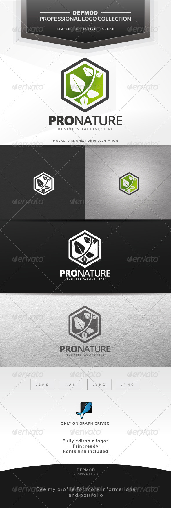 GraphicRiver Pro Nature Logo 6826533