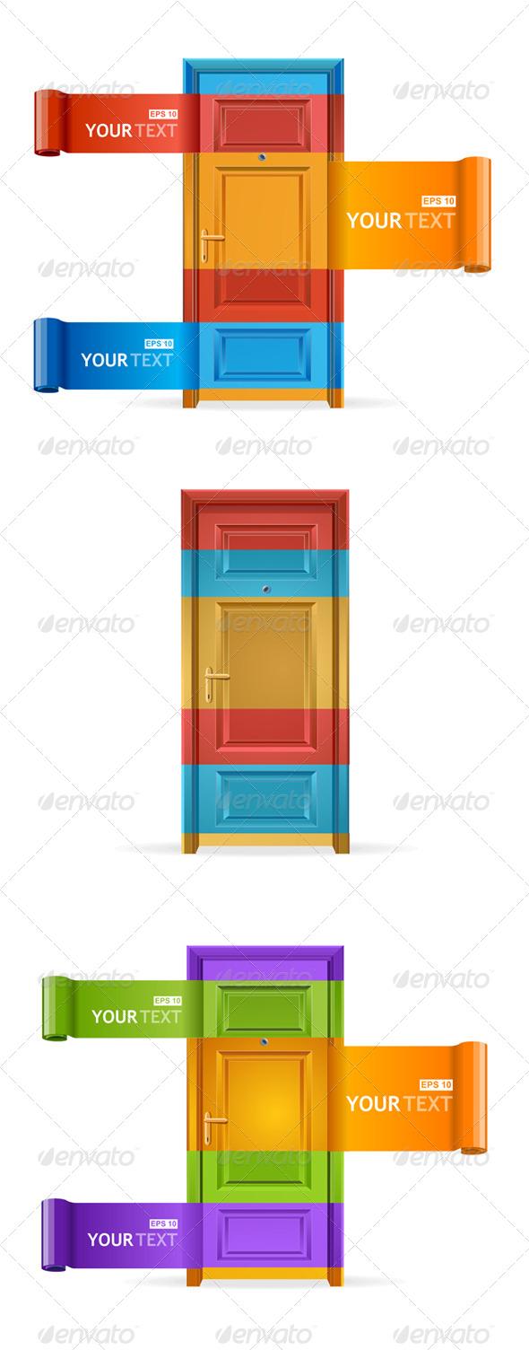 GraphicRiver Speech Templates Like Door 6826562