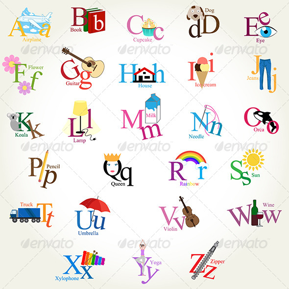 GraphicRiver Illustrated Alphabet 6811357