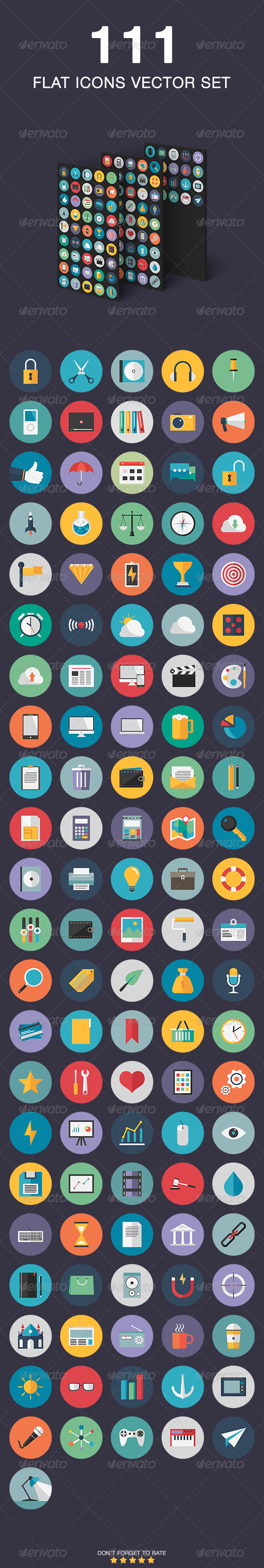 GraphicRiver Flat Icons Vector Set 6826908