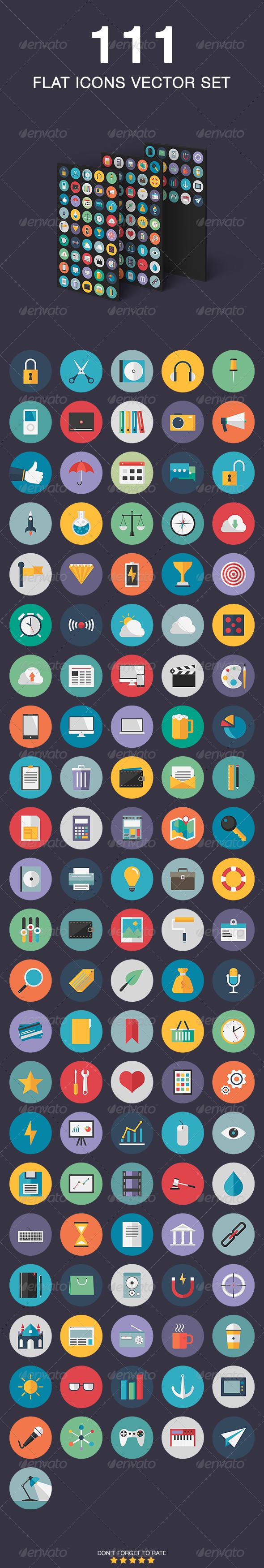 Flat Icons Vector Set - Web Icons