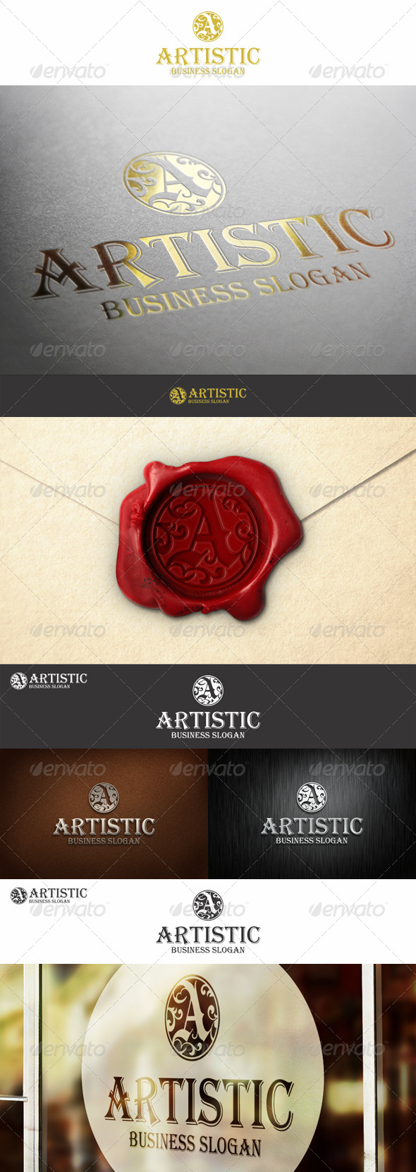 A Monogram Artistic Logo Letter - Letters Logo Templates