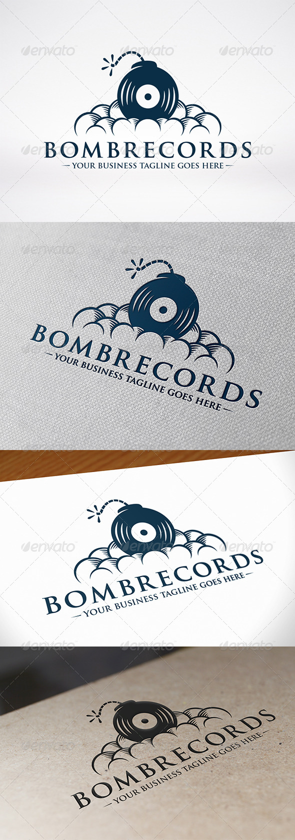 GraphicRiver Music Bomb Logo Template 6827338