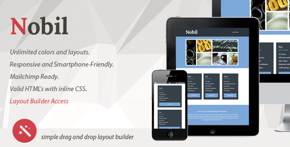 NOBIL - Responsive Email With Layout Builder