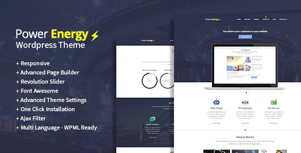 Power Energy - Multipurpose Wordpress Theme - Corporate WordPress