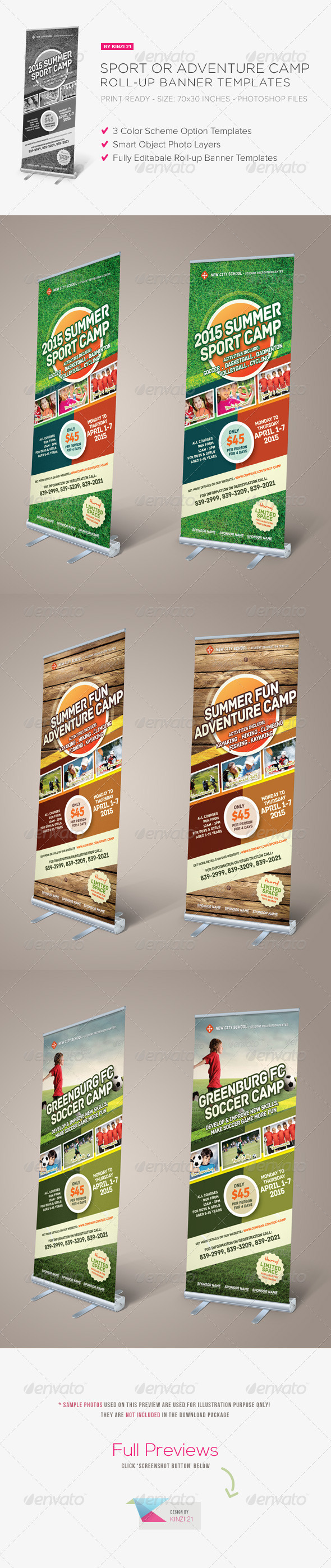 GraphicRiver Sport or Adventure Camp Roll-up Banners 6827404