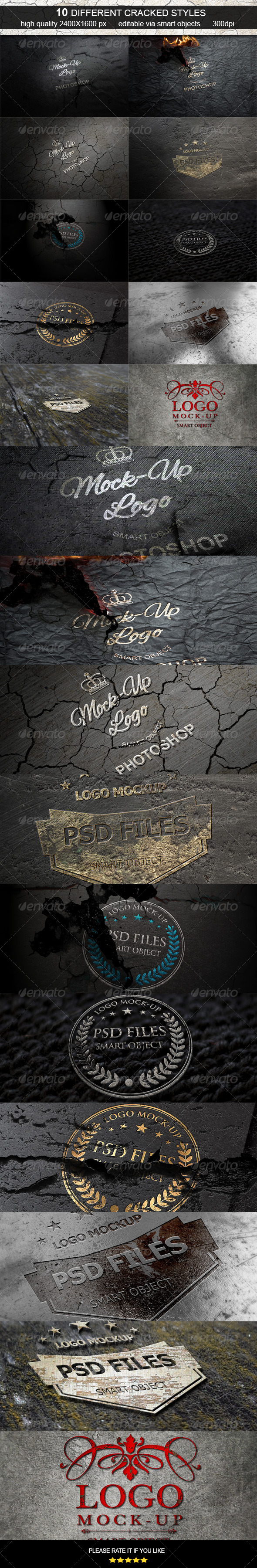 GraphicRiver Cracked Logo Mock-Up 6827561