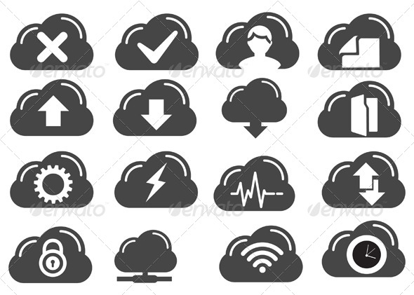GraphicRiver Cloud Services Icon 6827587