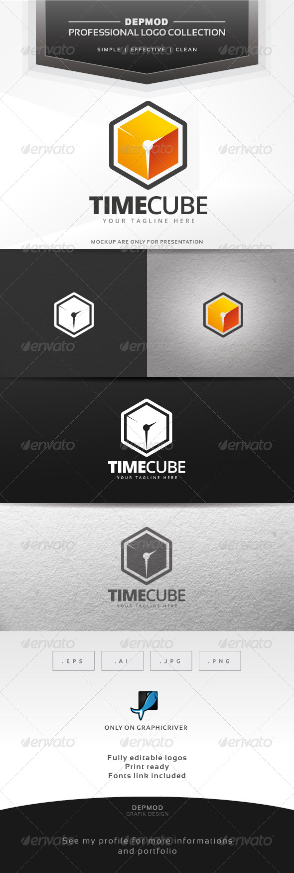 GraphicRiver Time Cube Logo 6827669