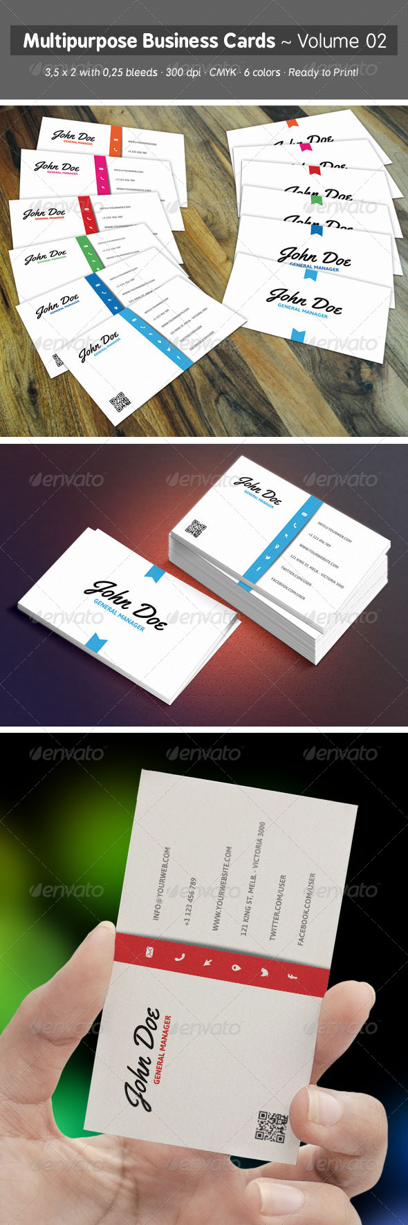 Multipurpose Business Cards - Volume 02 - Creative Business Cards