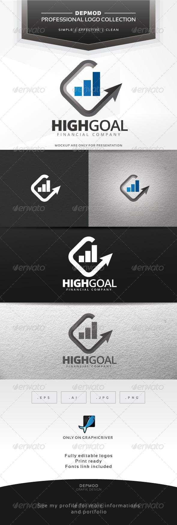 GraphicRiver Reach Goal Logo 6827935
