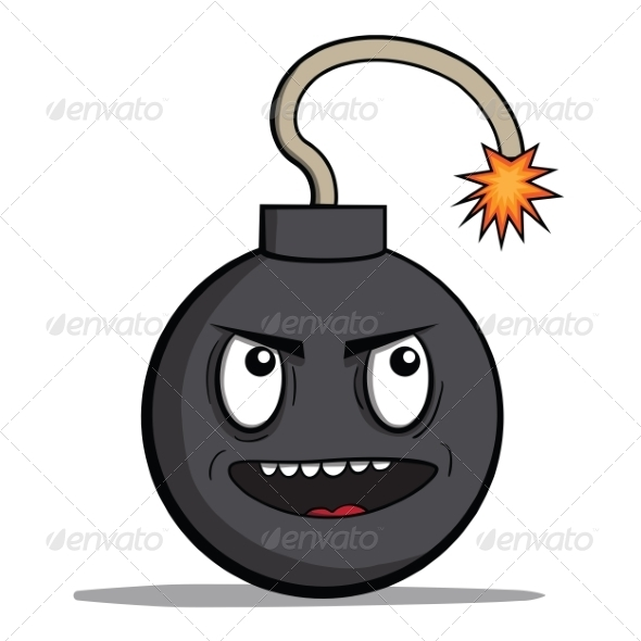 GraphicRiver Evil Cartoon Bomb Ready to Explode 6827940