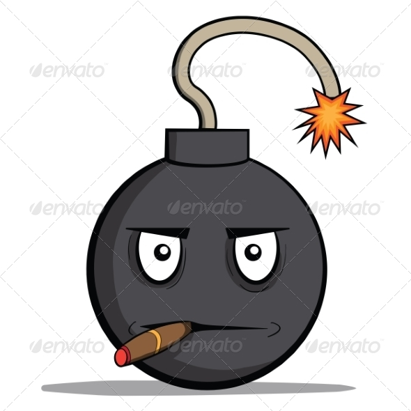 GraphicRiver Cartoon Bomb with Cigar 6827951