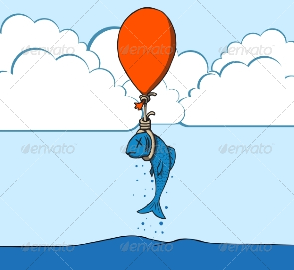 GraphicRiver Suicide Fish with Balloon 6827975