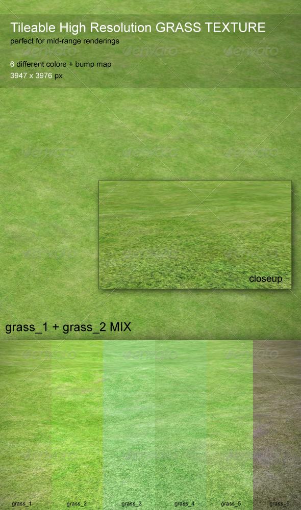 3DOcean Grass Texture Tileable HiRes 6 Colors 6515917