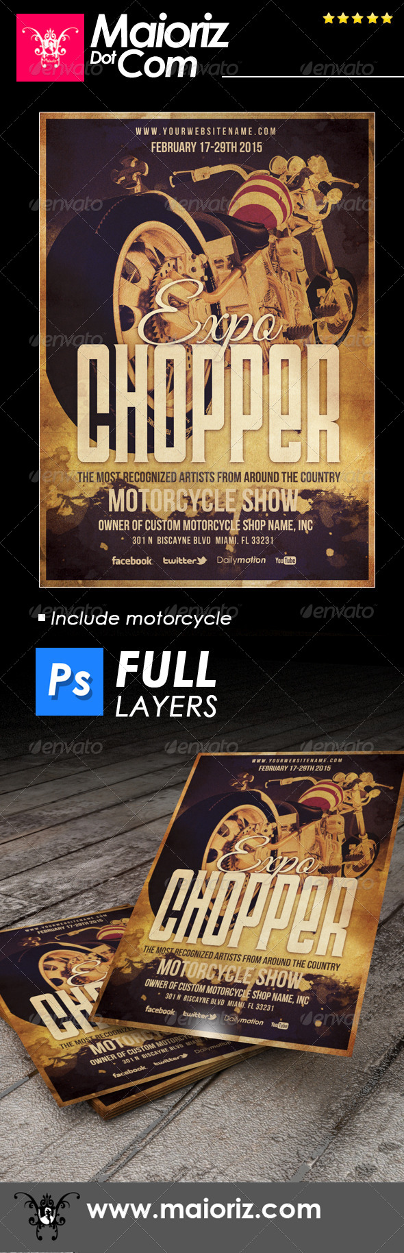 GraphicRiver Indie Chopper Flyer 6828043