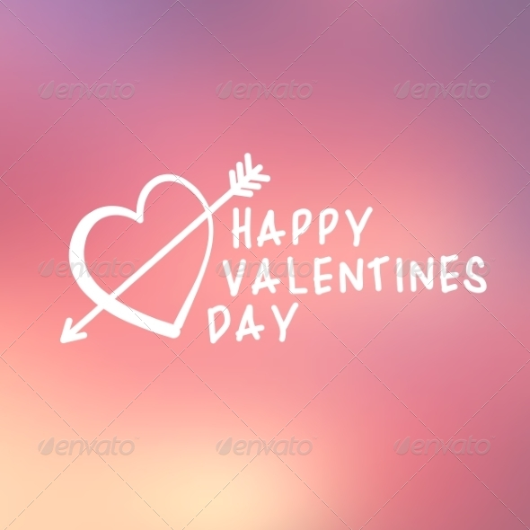 GraphicRiver Abstract Background with Text for St Valentine s 6828353