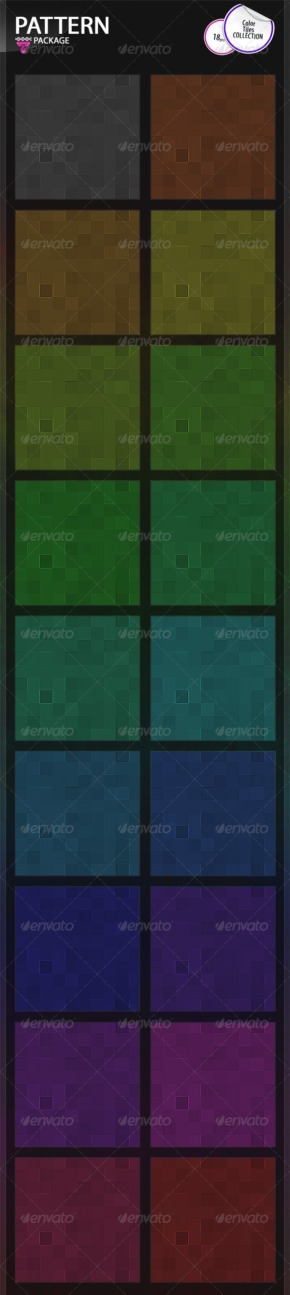 GraphicRiver Color Tiles Patterns Collection 6828575