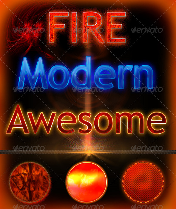 GraphicRiver Fire Styles for Text 6828577