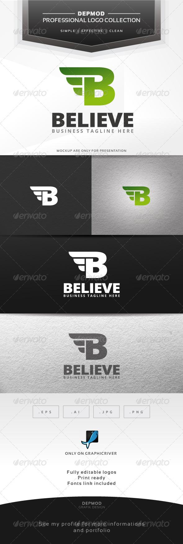 GraphicRiver Believe Logo 6828579