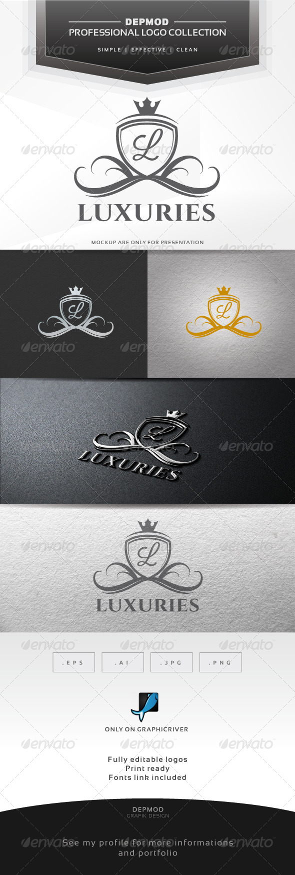 GraphicRiver Luxuries V.02 Logo 6828597