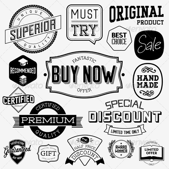 GraphicRiver Vintage Badges and Labels 6828717